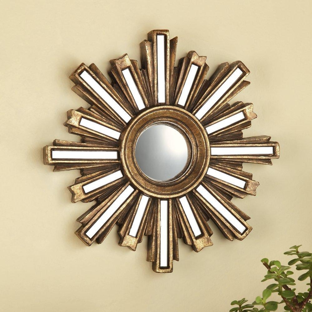 Sun Mirror Wall Decor Gold : Ideas Sun Mirror Wall Decor With Regard To Small Gold Mirrors (View 13 of 20)