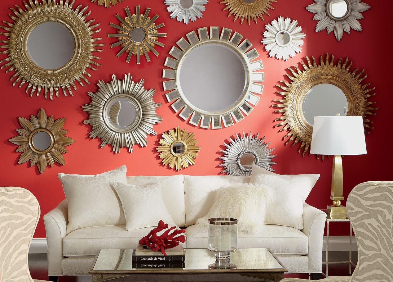 Sunburst Wall Mirror Is Magic Mirror — Home Ideas Collection Throughout Red Wall Mirror (View 16 of 20)