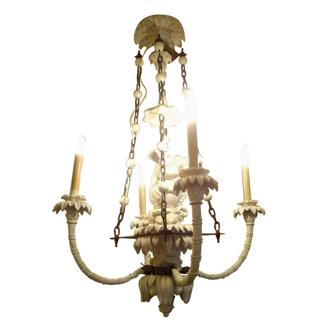 Super Chic Carved Wood Chinoiserie Style Monkey Chandelier At 1stdibs Regarding Chinoiserie Chandeliers (Image 23 of 25)