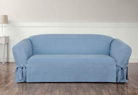 Sure Fit – Authentic Denim One Piece Slipcovers For Denim Sofas And Loveseats (Image 19 of 20)