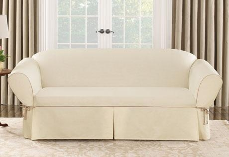 Sure Fit – Category Regarding Canvas Slipcover Sofas (Image 17 of 20)