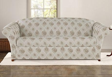 Sure Fit – Category Regarding Floral Sofa Slipcovers (View 14 of 20)
