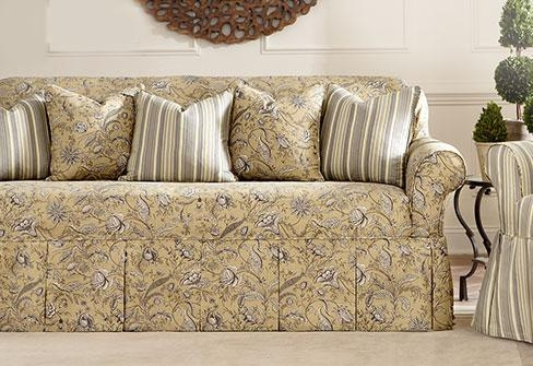 Sure Fit – Category Throughout Floral Sofa Slipcovers (View 3 of 20)