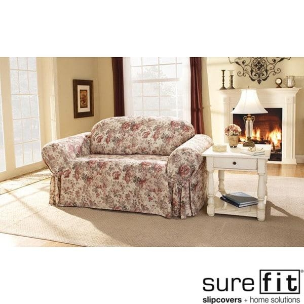 Sure Fit Chloe Floral Sofa Slipcover – Free Shipping Today With Floral Sofa Slipcovers (View 20 of 20)