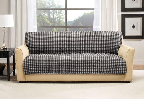 Sure Fit – Deluxe Armless Furniture Cover For Armless Couch Slipcovers (Image 19 of 20)