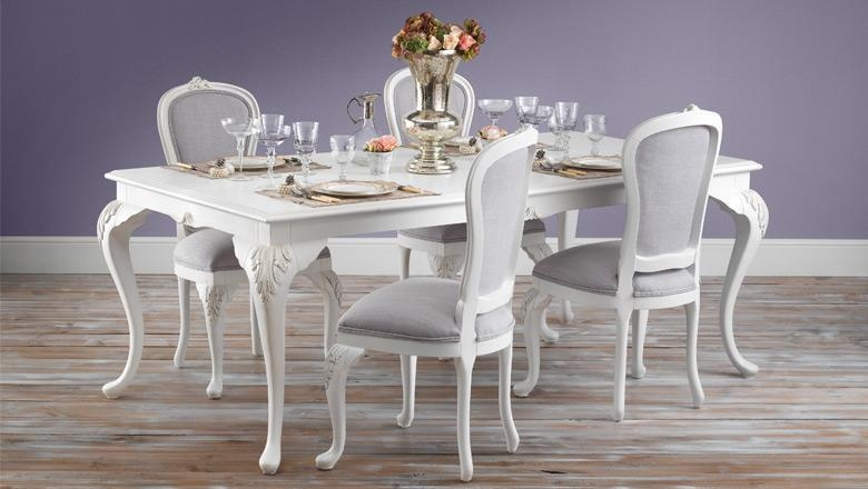 Featured Image of Shabby Chic Cream Dining Tables And Chairs