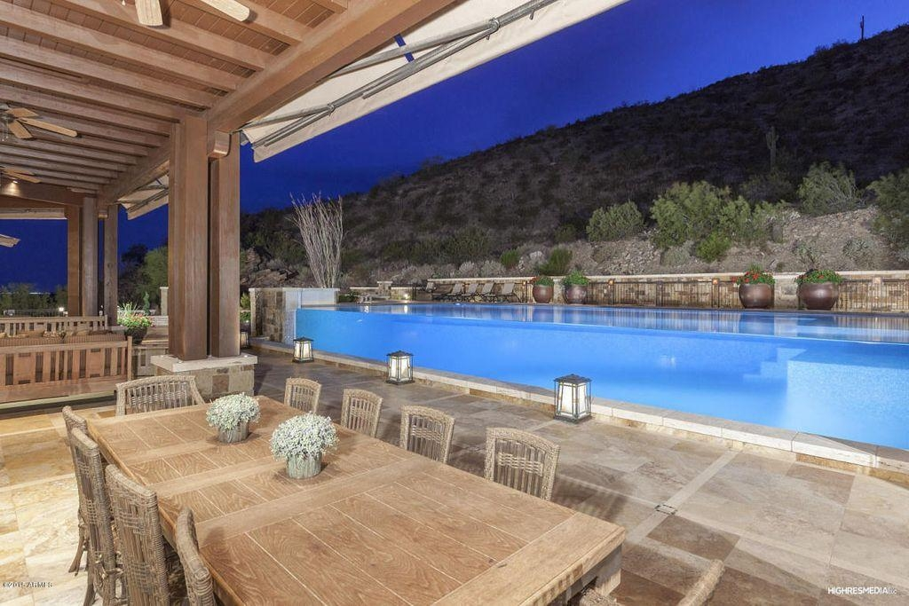 Swimming Pool With Exterior Tile Floors & Exterior Stone Floors In Inside Marbella Dining Tables (Image 20 of 20)