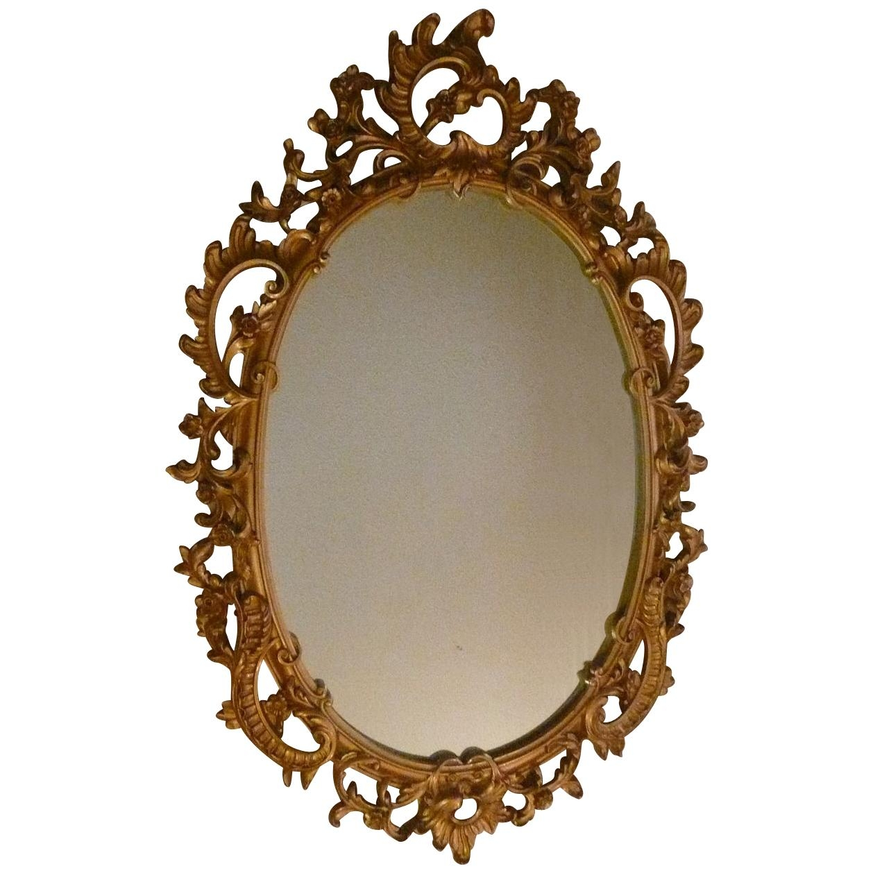 Syroco Wood Composite Mirror With Ornate Scroll From Artgate On Throughout Ornate Oval Mirrors (Image 17 of 20)