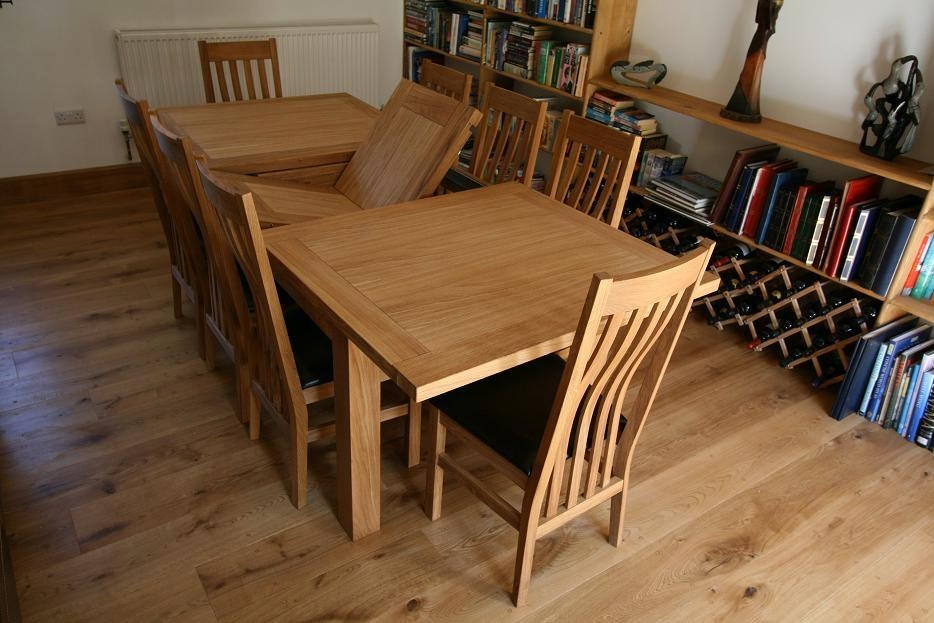 Table 8 Seat Extending Dining | Summitcsea With Regard To 8 Seater Oak Dining  Tables (