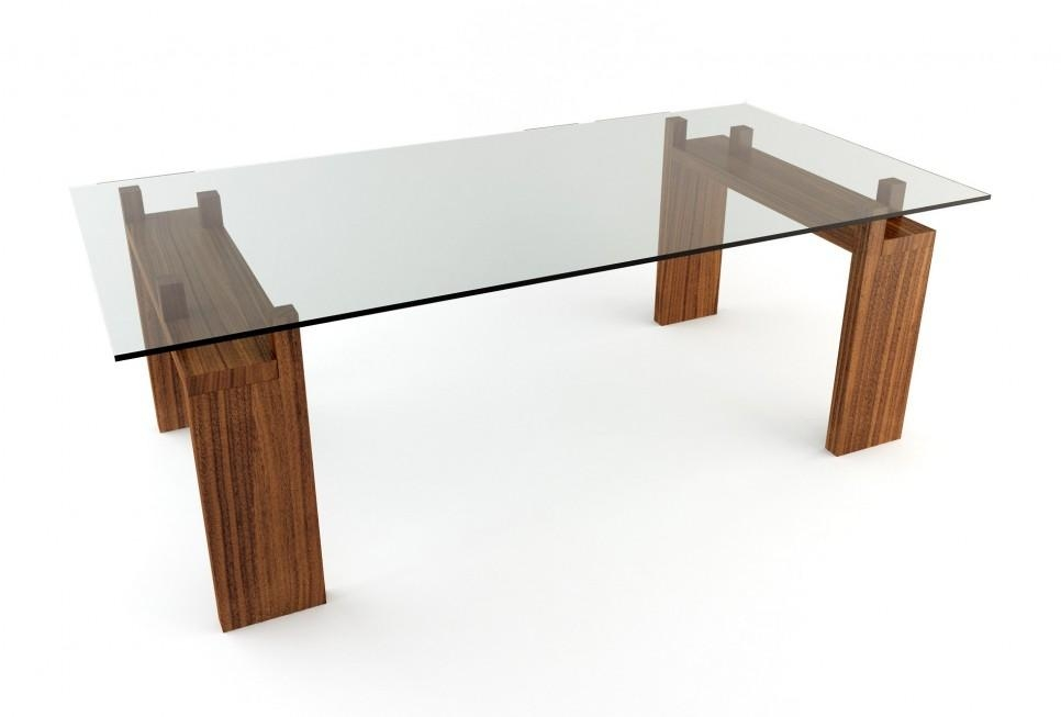 Table Base For Glass Dining Table Pertaining To Glass Dining Tables With Wooden Legs (Image 20 of 20)