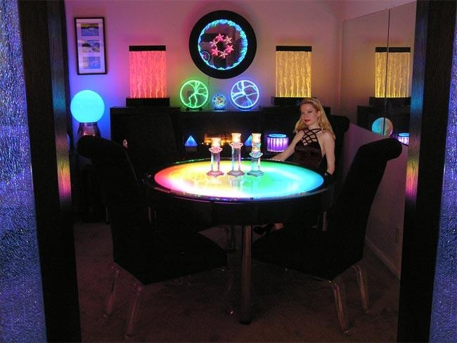 Table Led Lights – Home Design Ideas And Pictures Inside Dining Tables With Led Lights (Image 20 of 20)
