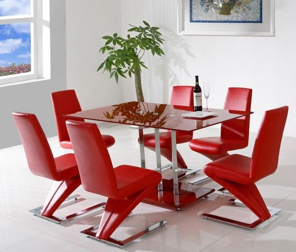 Table Red Dining Room Furniture Sets | Talkfremont Pertaining To Red Dining Tables And Chairs (Image 20 of 20)
