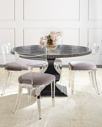 Tables – Round Acrylic Gold Table Regarding Round Acrylic Dining Tables (Photo 6 of 20)