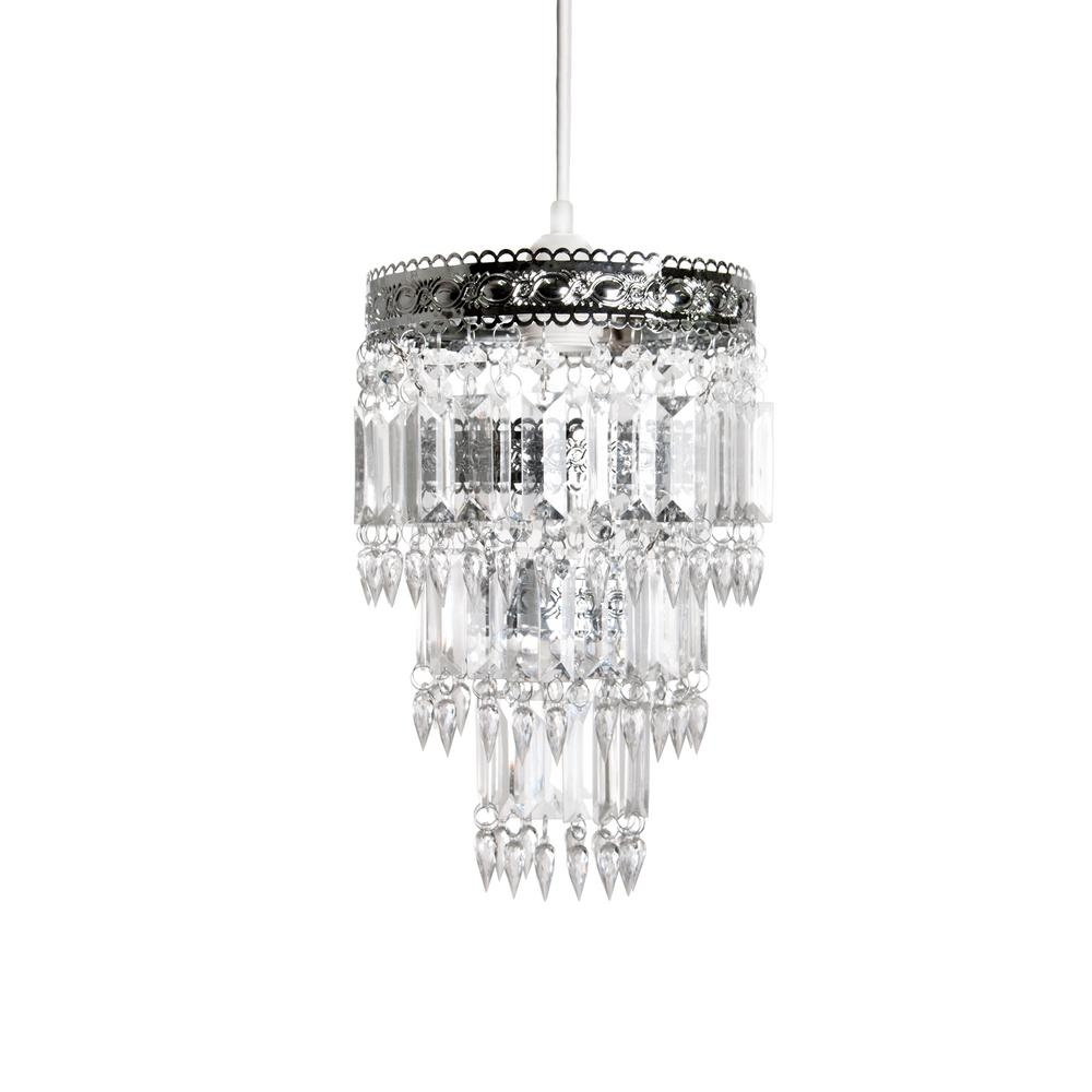 Tadpoles 8 In X 12 In 1 Light Faux Crystal Chrome Pendant In Faux Crystal Chandeliers (View 18 of 25)