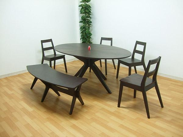 Takara21 | Rakuten Global Market: Dining Table Set Six Seat Bench Regarding 6 Person Round Dining Tables (Image 20 of 20)