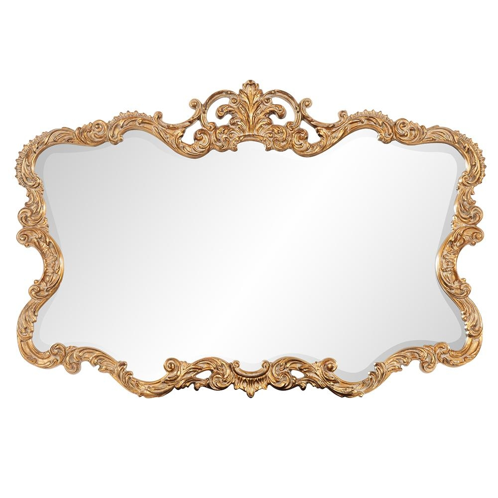 Talida Ornate Gold Mirror|Howard Elliott Intended For Gold Ornate Mirrors (View 13 of 20)