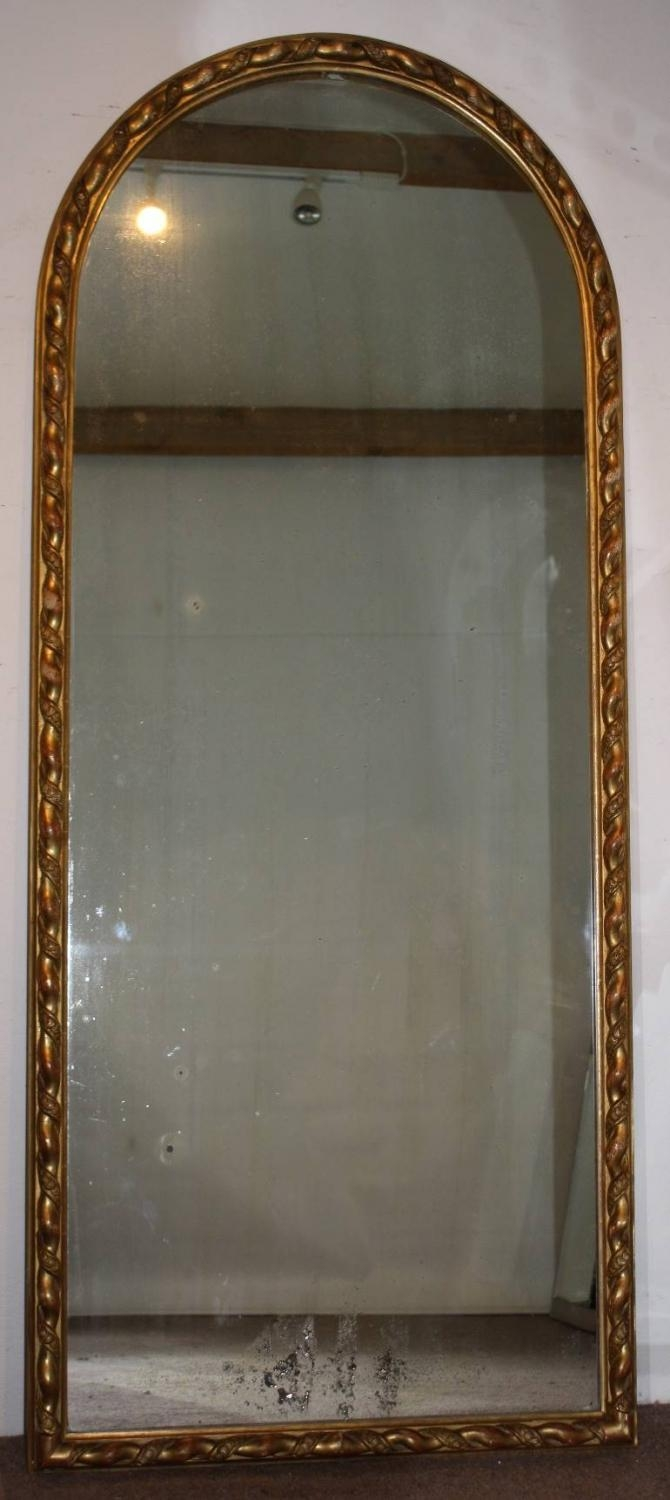 Tall, Narrow Antique Arched Mirror With Ropet Within Antique Arched Mirror (Image 20 of 20)