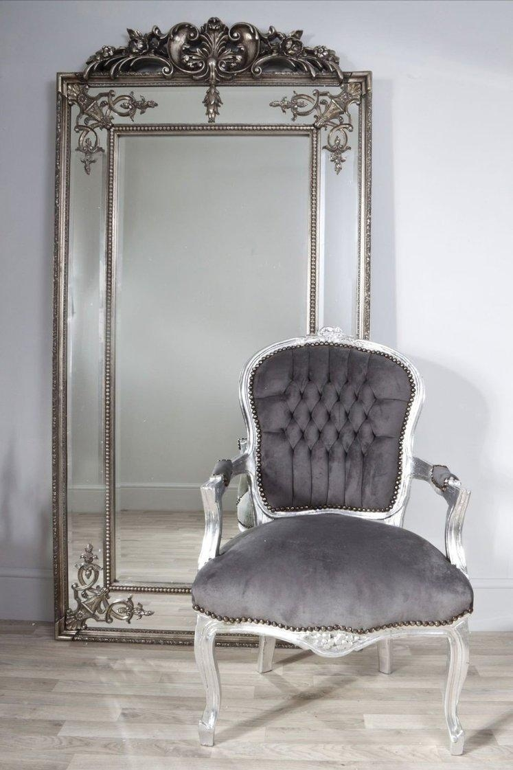 Tall Silver/bronze Vintage Mirror From Dansk Regarding Vintage Silver Mirror (Image 18 of 20)