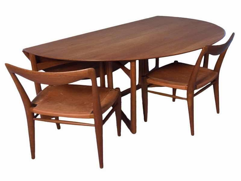 Teak Folding Curved Table And Chairs For Dining Furniture (View 13 of 20)