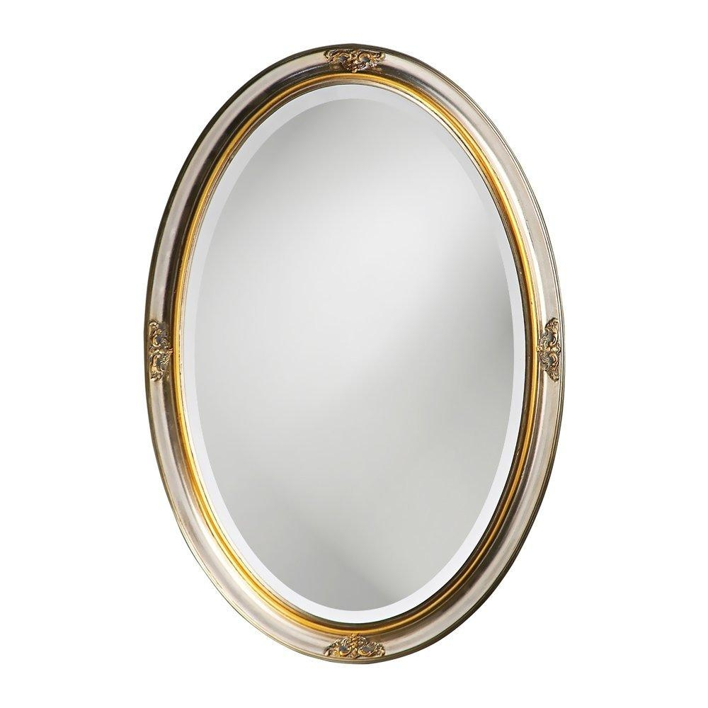 The Best Oval Mirrors For Your Bathroom | Decor Snob Intended For Silver Oval Wall Mirror (Image 18 of 20)