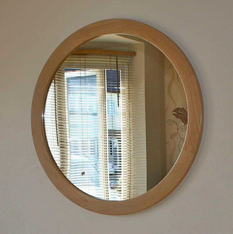 The Big Round Oak Mirrorwood Paper Scissors In Large Oak Mirrors (View 8 of 20)