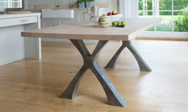 The Exe Dining Table From Handmade Furniture Designer Tom Faulkner For Dining Tables London (Image 19 of 20)