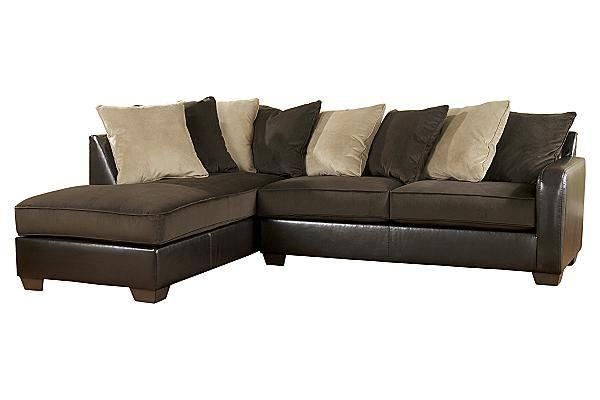 The Gemini – Chocolate Sectional From Ashley Furniture Homestore Pertaining To Ashley Furniture Brown Corduroy Sectional Sofas (Image 19 of 20)