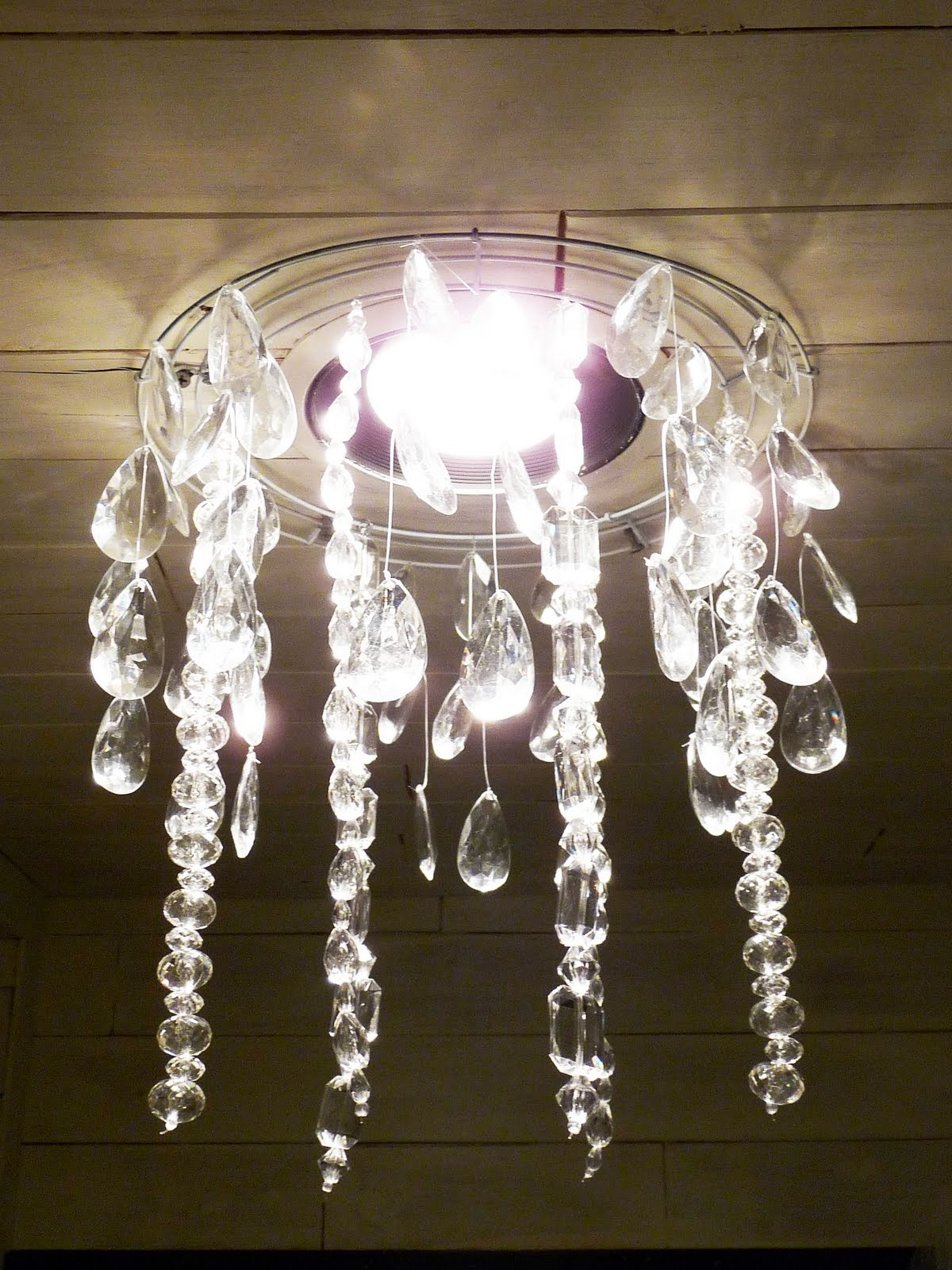 The Happy Homebodies Tutorial Diy Faux Crystal Chandelier Inside Faux Crystal Chandeliers (View 4 of 25)