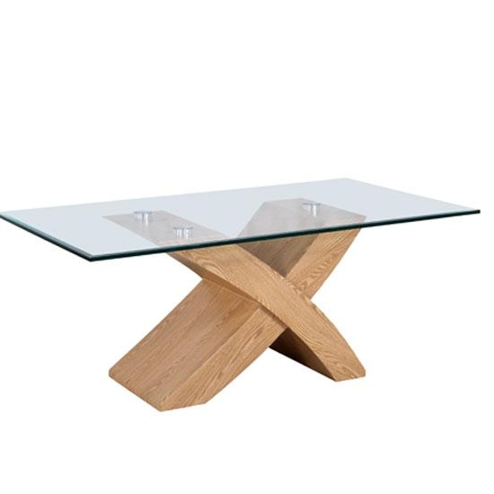 The Rainer Is A Modern Industrial Take On The Classic Dining Table With Glass Top Oak Dining Tables (Image 20 of 20)