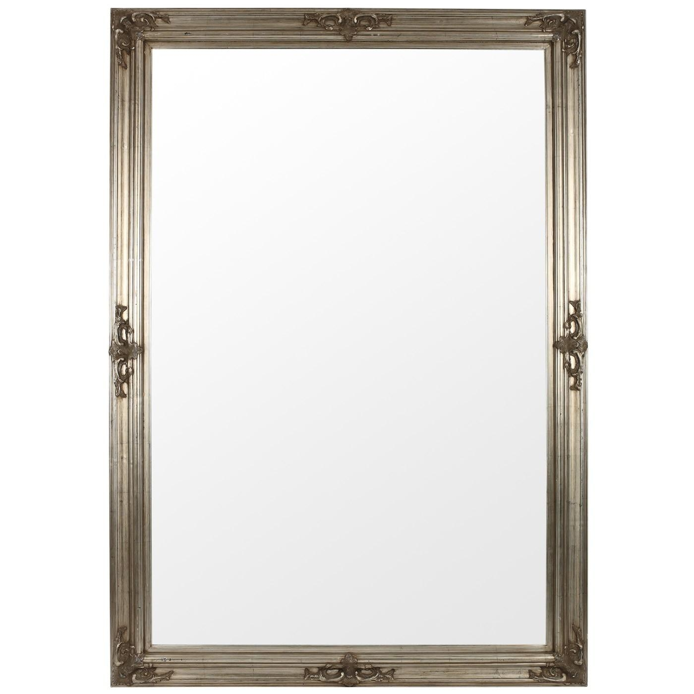 The Silver Gothic Mirror Range Available In Various Sizes As Pertaining To Large Pewter Mirror (Image 20 of 20)