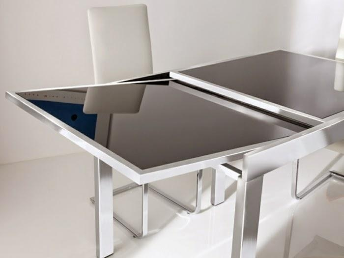This Is 10 Extendable Dining Tables Of Glass, Wood And Plastic Inside Glass Folding Dining Tables (Image 20 of 20)