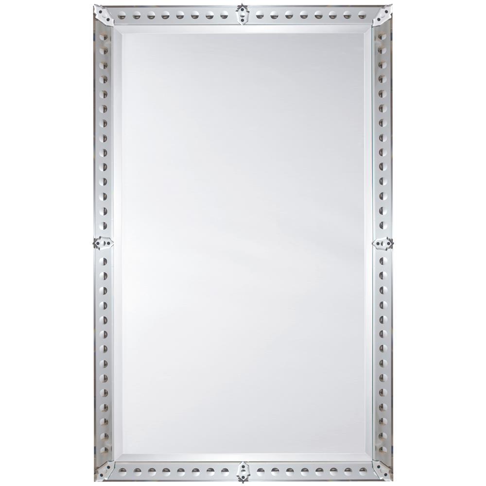 Thomas Modern Classic Mirror Rosettes Venetian Mirror | Kathy Kuo Home Regarding Modern Venetian Mirror (Image 18 of 20)
