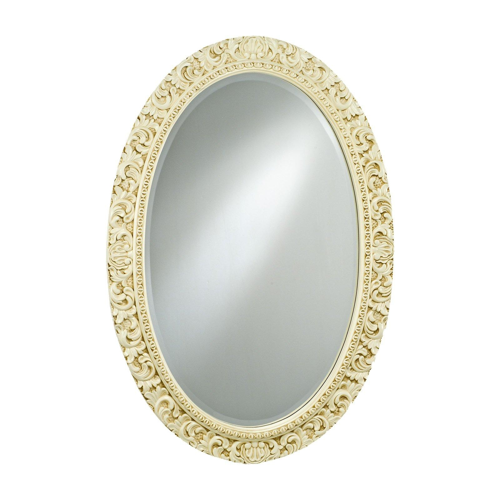 Timeless Tradition Ornate Oval Wall Mirror – 24W X 36H In In Ornate Oval Mirrors (Photo 8 of 20)