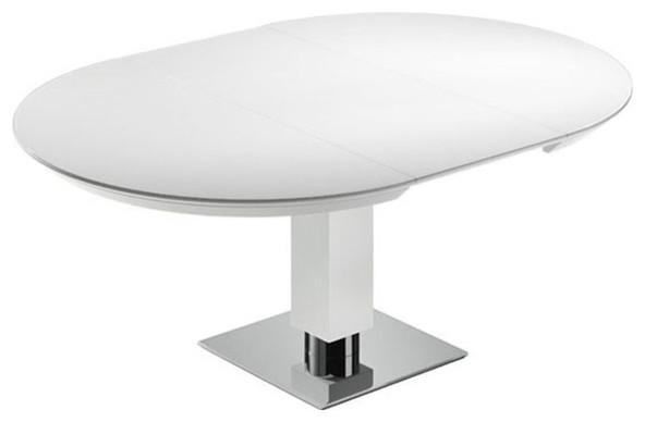 Todo From Bacher Round Extendable Dining Table With Glass Top Intended For Round White Extendable Dining Tables (View 10 of 20)