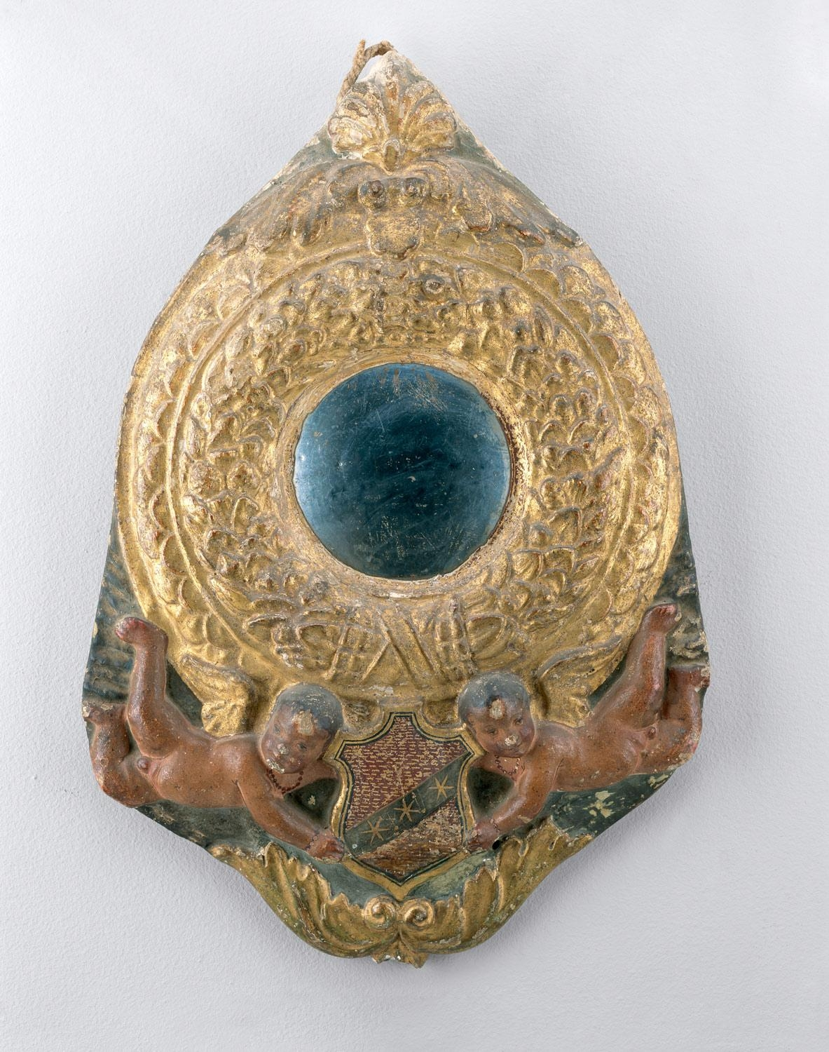 Tondo Mirror Frame | Possibly Workshop Of Benedetto Da Maiano With Round Gilt Mirror (Image 18 of 20)