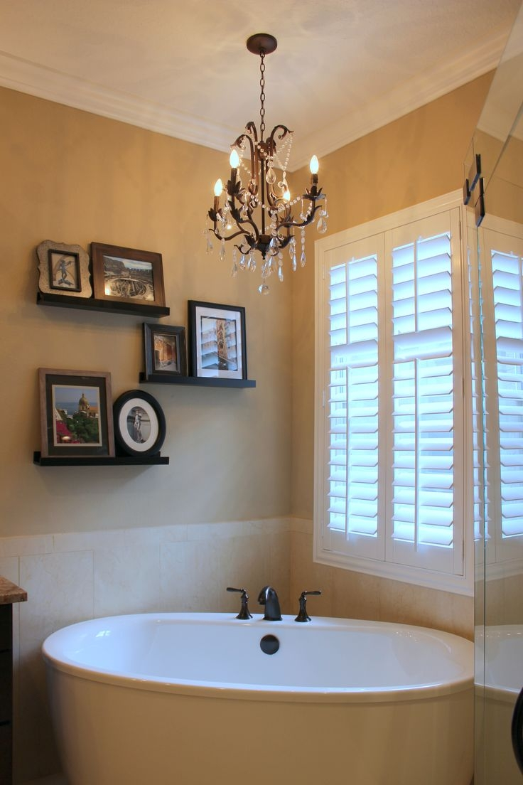 Top 25 Best Bathroom Chandelier Ideas On Pinterest Master Bath Regarding Free Standing Chandelier Lamps (Image 24 of 25)