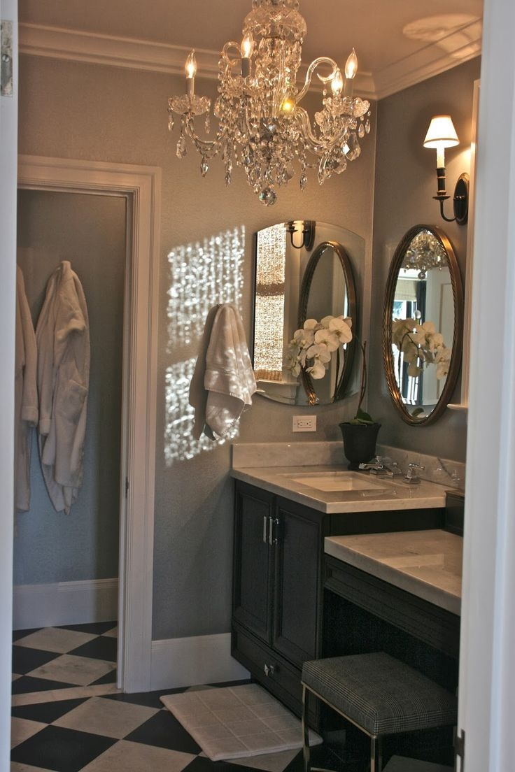 Top 25 Best Bathroom Chandelier Ideas On Pinterest Master Bath Throughout Chandelier Bathroom Lighting (Image 23 of 25)