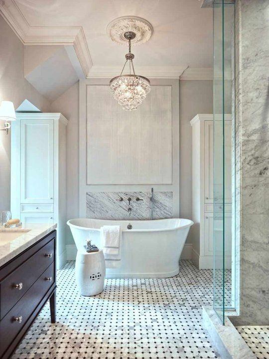 Top 25 Best Bathroom Chandelier Ideas On Pinterest Master Bath With Crystal Chandelier Bathroom Lighting (Image 24 of 25)