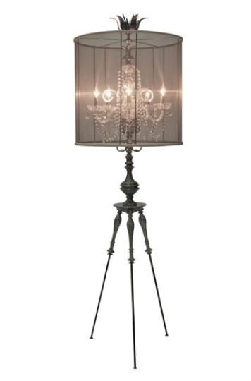 Top 25 Best Chandelier Floor Lamp Ideas On Pinterest Floor Intended For Crystal Chandelier Standing Lamps (Image 22 of 25)