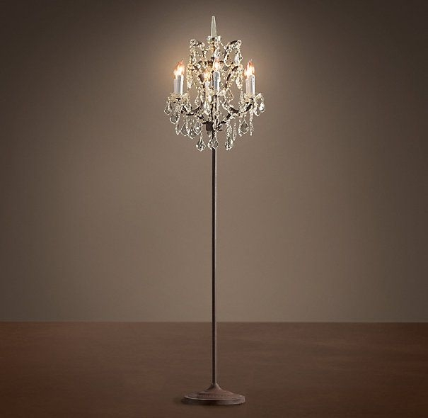 Featured Image of Crystal Chandelier Standing Lamps