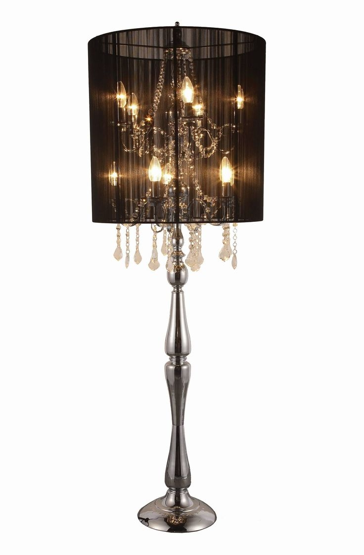 Top 25 Best Chandelier Floor Lamp Ideas On Pinterest Floor Within Chandeliers With Lamp Shades (View 16 of 25)