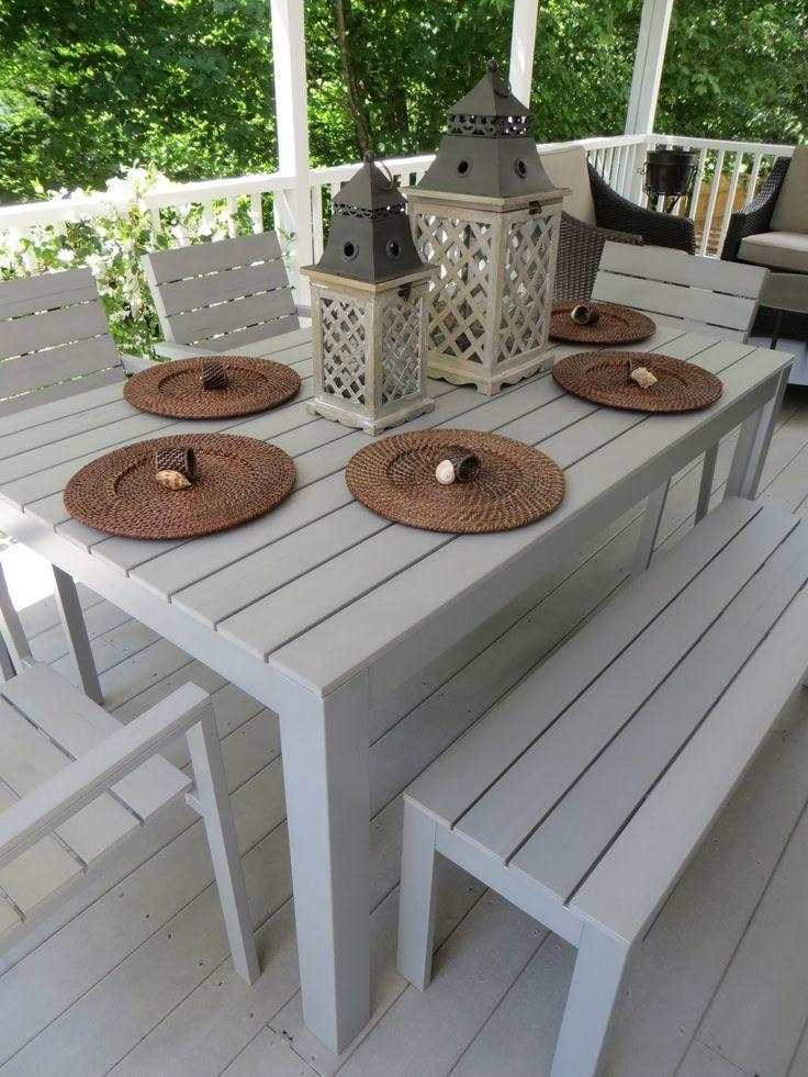 Top 25+ Best Outdoor Dining Furniture Ideas On Pinterest | Outdoor For Outdoor Dining Table And Chairs Sets (Image 18 of 20)
