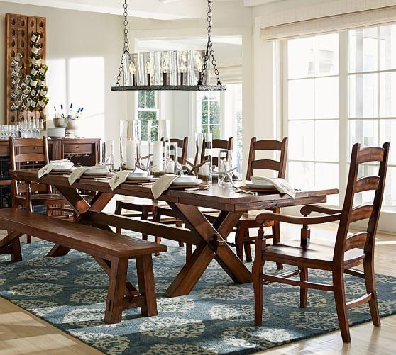 Toscana Extending Dining Table, Alfresco Brown | Pottery Barn For Toscana Dining Tables (Image 9 of 20)