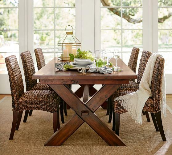 Toscana Extending Dining Table, Alfresco Brown | Pottery Barn Inside Toscana Dining Tables (Image 11 of 20)