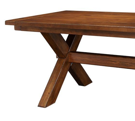 Toscana Extending Dining Table, Tuscan Chestnut | Pottery Barn In Toscana Dining Tables (Image 15 of 20)
