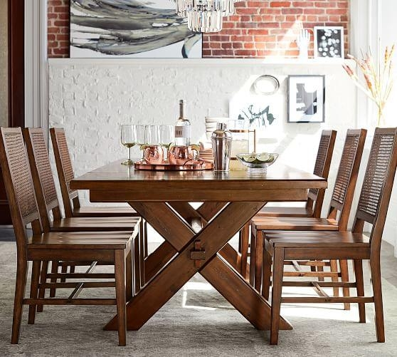 Toscana Extending Dining Table, Tuscan Chestnut | Pottery Barn Throughout Toscana Dining Tables (Image 16 of 20)