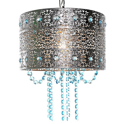 Tracy Porter Poetic Wanderlust Drum Chandelier Reviews Wayfair With Regard To Turquoise Drum Chandeliers (Image 20 of 25)