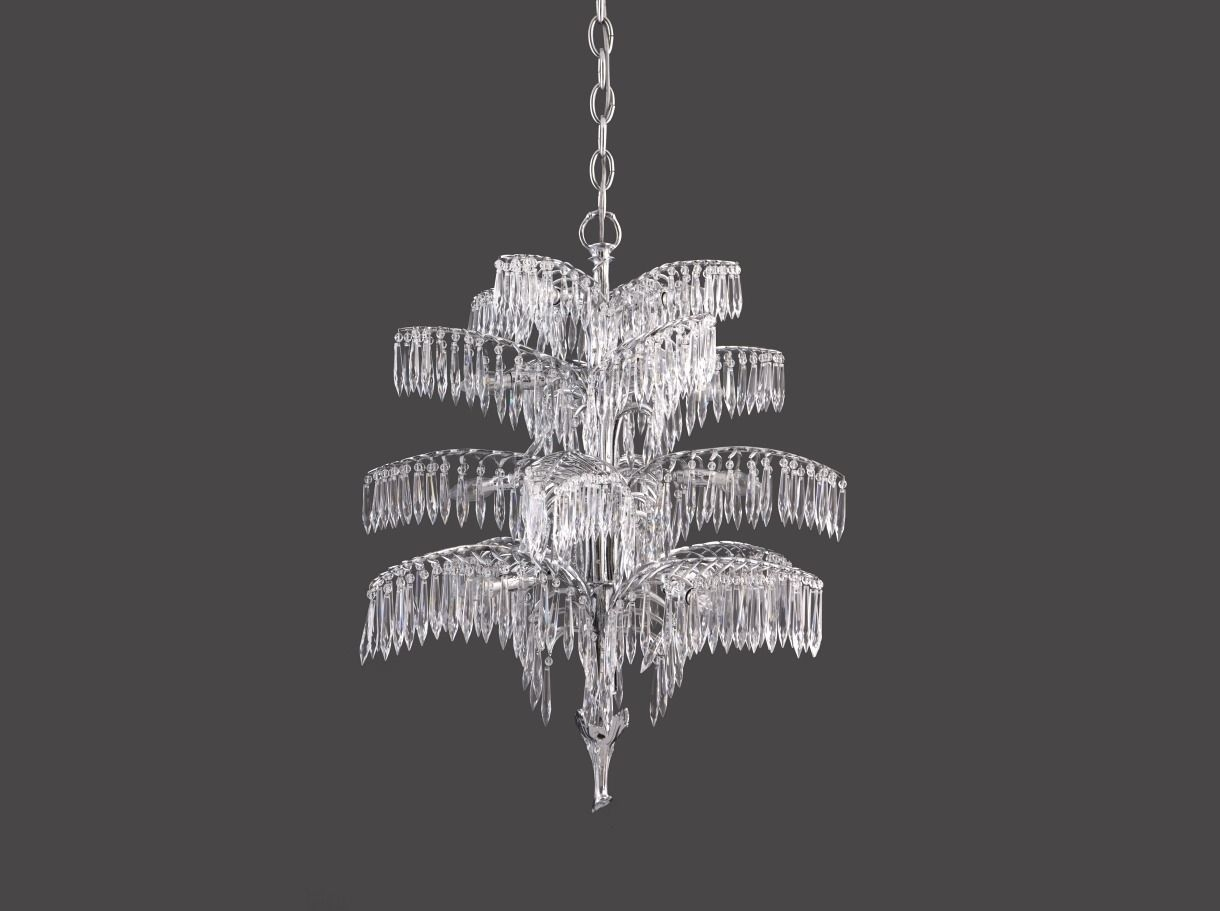 Traditional Chandelier Crystal Brass Handmade Palme 20332 With Regard To Vienna Crystal Chandeliers (Image 17 of 25)