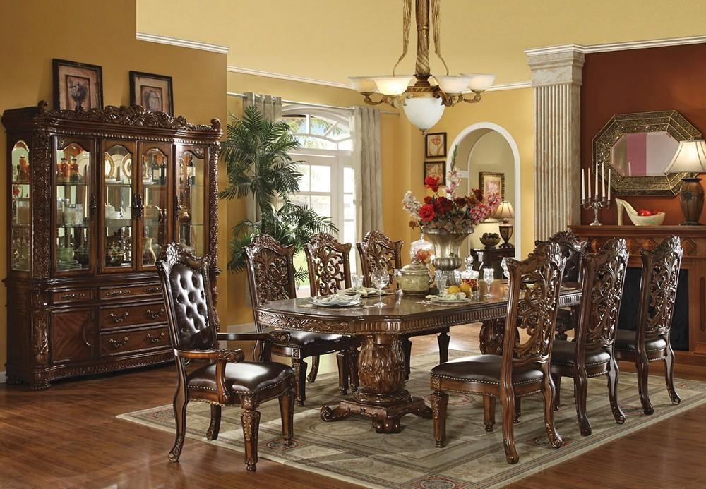 Traditional Dining Table Set For Traditional Dining Tables (Image 18 of 20)
