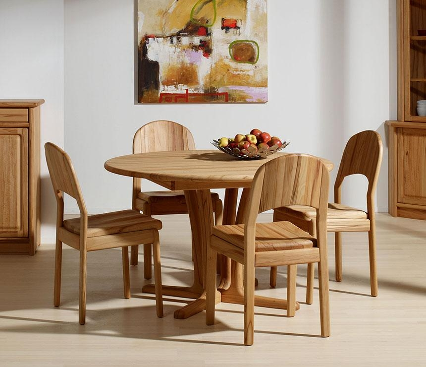 Traditional Round Dining Room Table – Wharfside Danish Furniture With Regard To Beech Dining Tables And Chairs (Image 20 of 20)